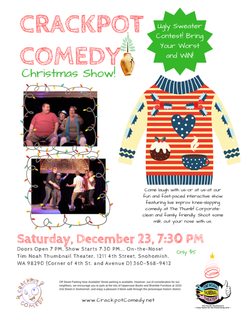 Crackpot Comedy December Ugly Sweater Contest Show