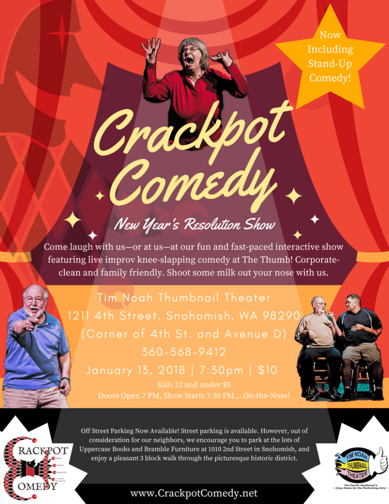 Crackpot Comedy January New Year's Resolution Show